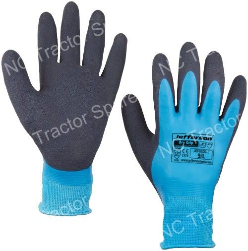 Dry Grip Water-Resistant Latex Glove Large