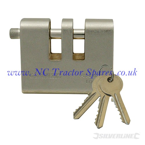 E-Type Armoured Padlock 90mm (Silverline)
