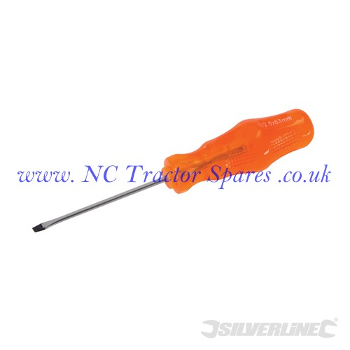 Engineers Screwdriver Slotted 2.5 x 63mm (Silverline)
