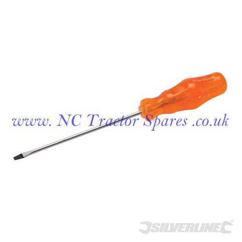 Engineers Screwdriver Slotted 3 x 100mm (Silverline)