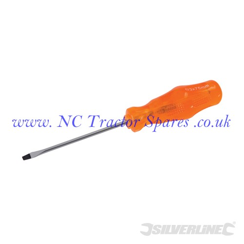 Engineers Screwdriver Slotted 3 x 75mm (Silverline)
