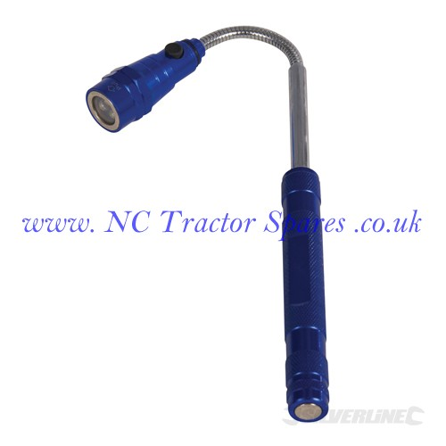Extendable Magnetic LED Torch 3 LED (Silverline)