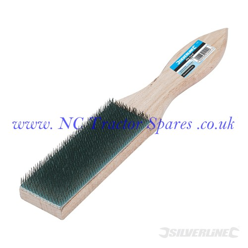File Card Brush Wooden 40mm (Silverline)
