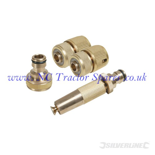 Fittings Set Brass 4pce 4pce (Silverline)