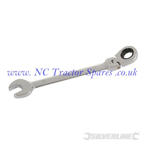 Flexible Head Ratchet Spanner 16mm (Silverline)