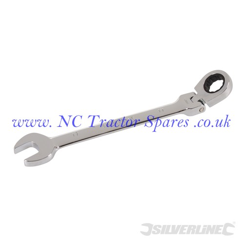 Flexible Head Ratchet Spanner 17mm (Silverline)