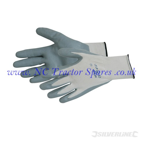 Foam Nylon Nitrile Gloves One Size (Silverline)