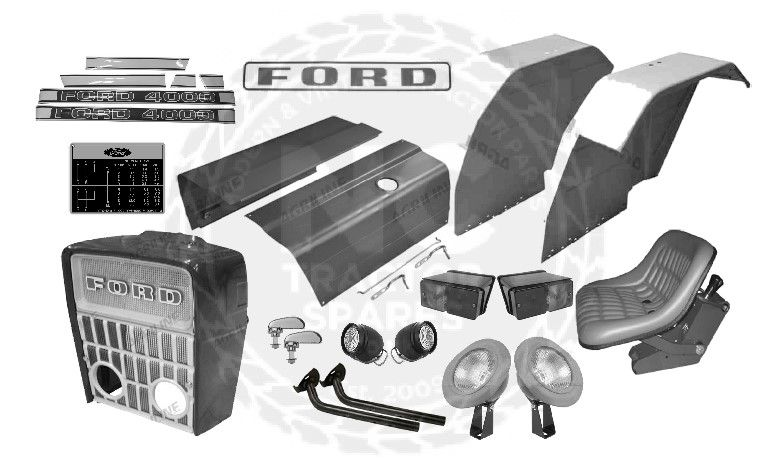Ford 4000 (Cab type) Body Panel Kit