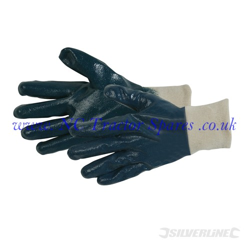Full Coat Interlock Nitrile Gloves One Size (Silverline)
