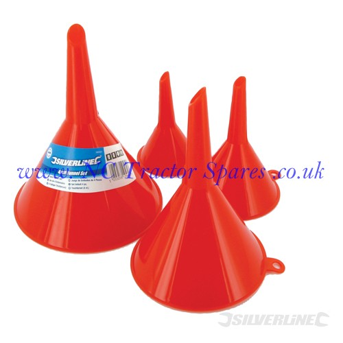 Funnel Set 4pce 50, 75, 100 & 120mm (Silverline)