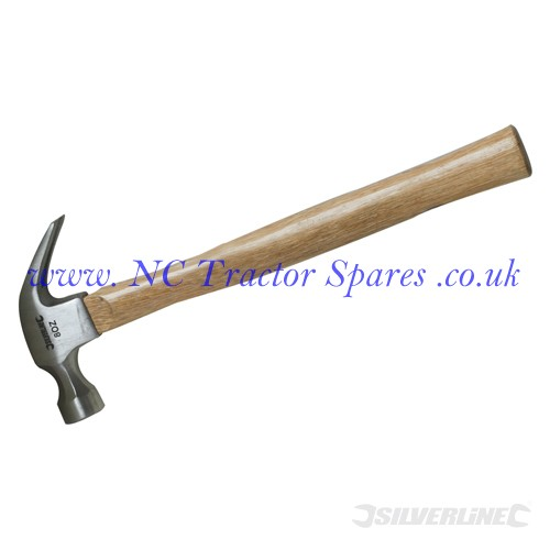 Hardwood Shaft Claw Hammer 24oz (Silverline)
