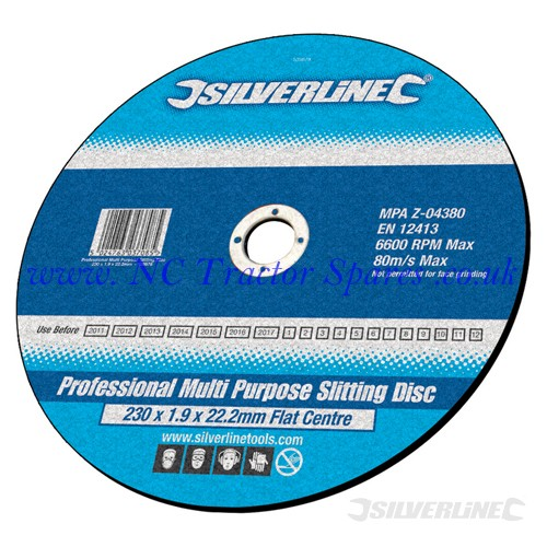 Heavy Duty Multipurpose Slitting Disc Flat 115 x 1 x 22.2mm (Silverline)