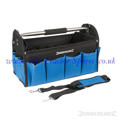 Heavy Duty Tool Bag Hard Base 400mm (Silverline)