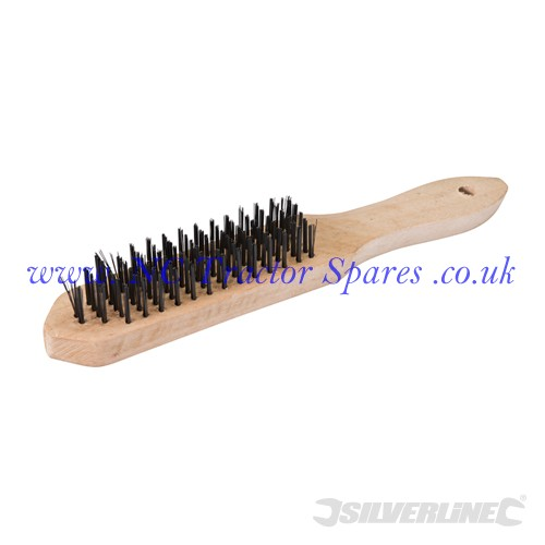 Heavy Duty Wire Brush 6 Row (Silverline)