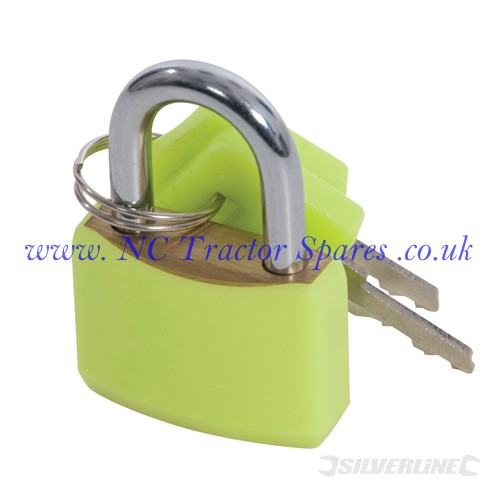 Hi-Vis Brass Padlocks Set 4pce 20mm (Silverline)
