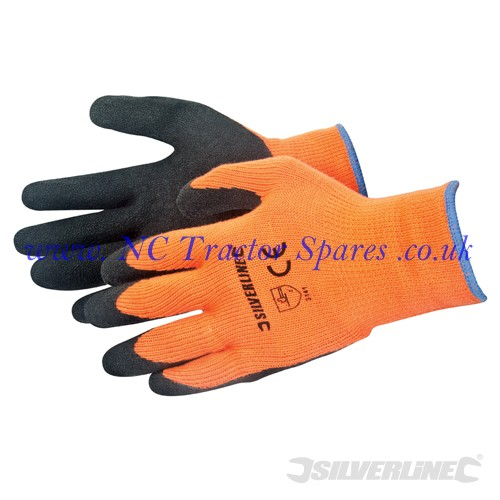 Hi-Vis Builders Gloves Orange One Size (Silverline)
