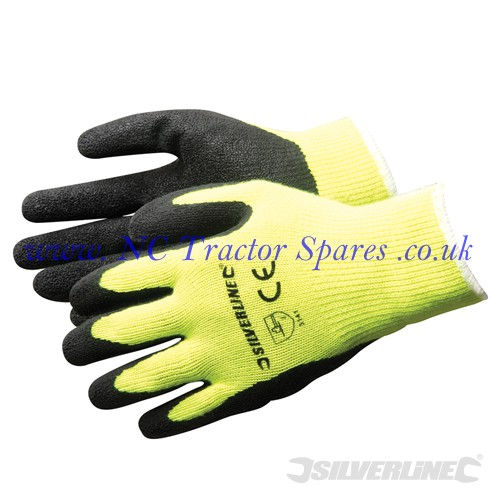 Hi-Vis Builders Gloves Yellow One Size (Silverline)