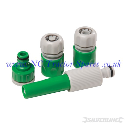 Hose Connector Set 4pce 4pce (Silverline)