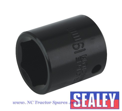 "Impact Socket 19mm 3/8""Sq Drive"