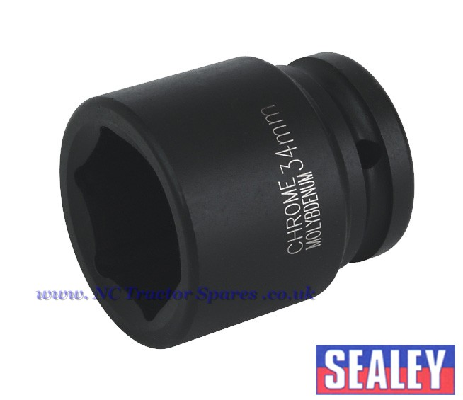 "Impact Socket 34mm 3/4""Sq Drive"