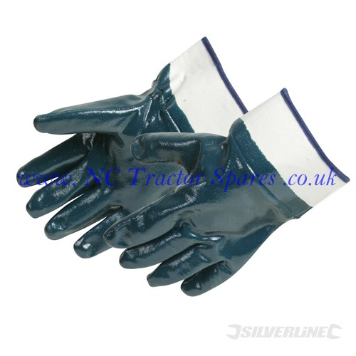 Jersey Lined Nitrile Gloves One Size (Silverline)