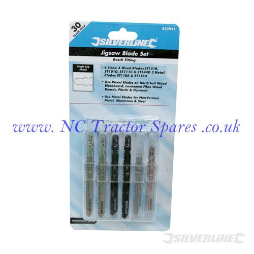 Jigsaw Blade Set 30pce 30pce (Silverline)