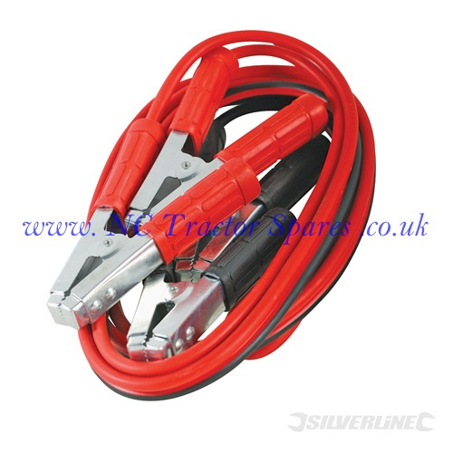 Jump Leads Heavy Duty 600A max 3.6m (Silverline)