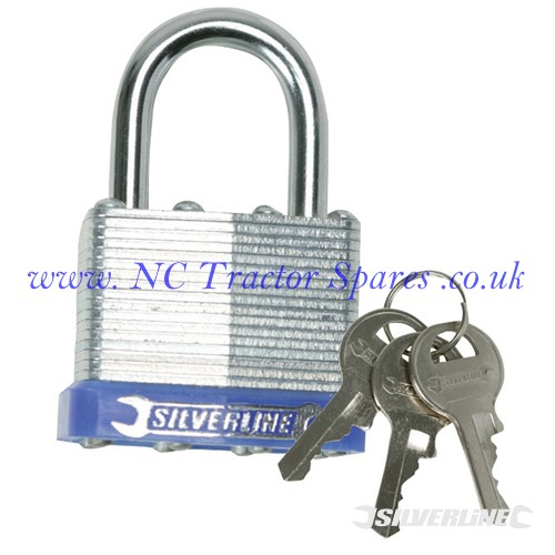 Laminated Padlock 40mm (Silverline)