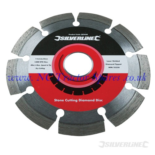 Laser Welded Diamond Blade 115 x 22.2mm (Silverline)