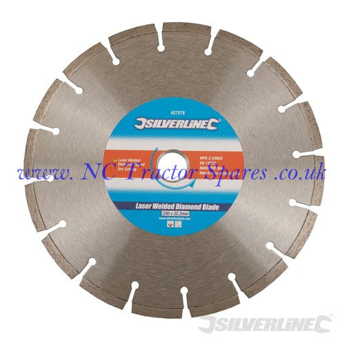 Laser Welded Diamond Blade 230 x 22.2mm (Silverline)