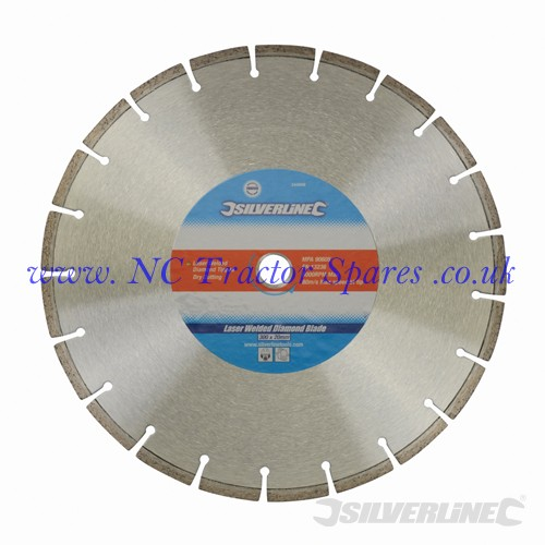 Laser Welded Diamond Blade 300 x 20mm (Silverline)