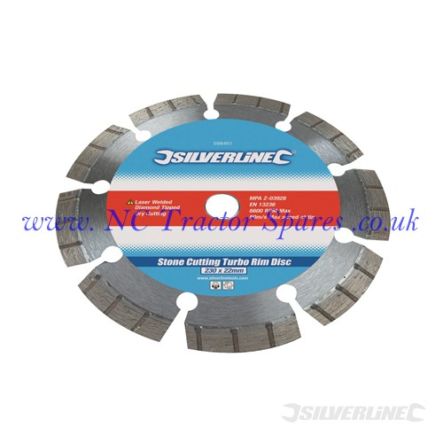 Laser Welded Turbo Rim Blade 115 x 22.2mm (Silverline)