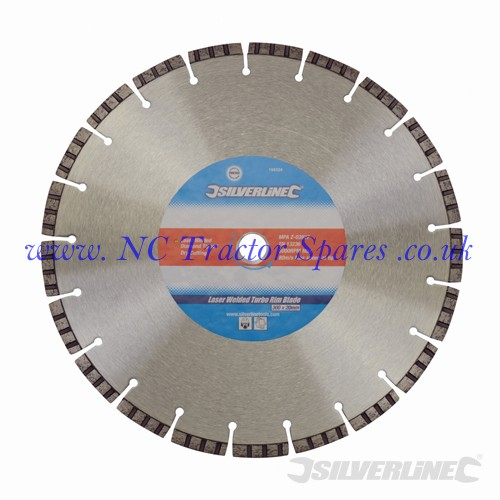 Laser Welded Turbo Rim Blade 300 x 20mm (Silverline)