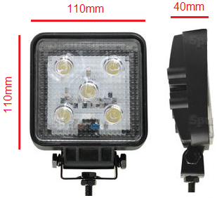 LED Work lamp light Lumen: 1150 Volts: 12/24