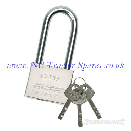 Long Shackle Steel Padlock 50mm (Silverline)