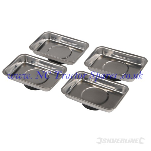 Magnetic Tray Set 4pce 95 x 65mm (Silverline)