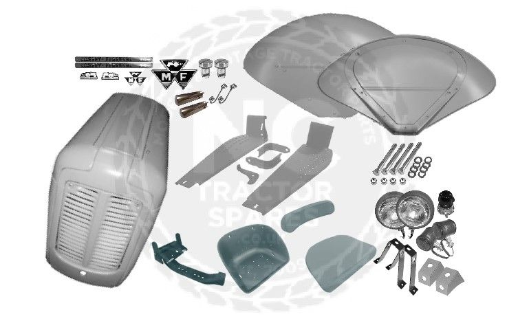 Massey Ferguson FE35 Grey/Red Body Panel Kit