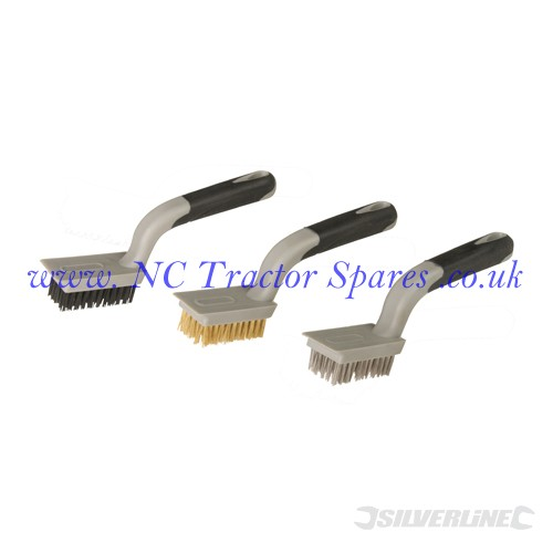 Medium Wire Brush Set 3pce 5 Row (Silverline)