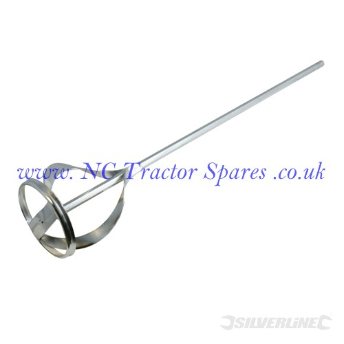 Mixing Paddle Zinc Plated 60 x 430mm (Silverline)