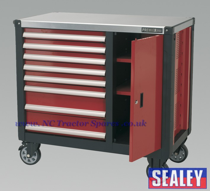 Mobile Workstation 8 Drawer with Ball Bearing Runners