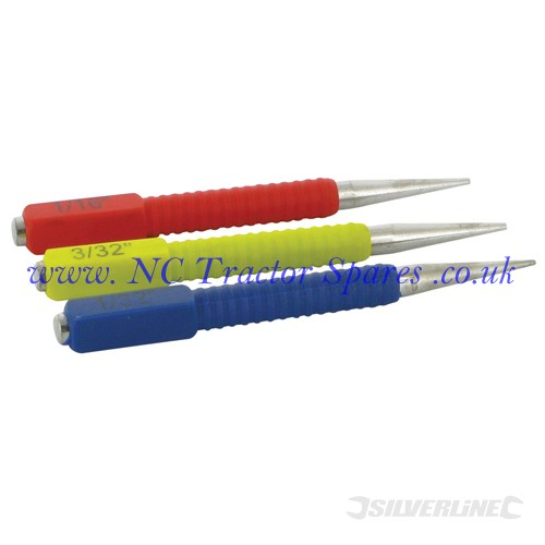 Nail Punch Set 3pce 127mm (Silverline)