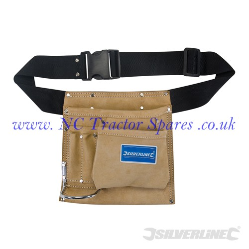 Nail & Tool Pouch Belt 5 Pocket 220 x 220mm (Silverline)