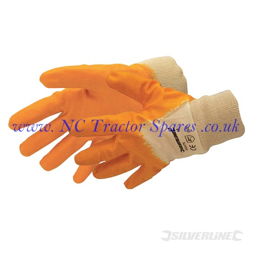 Open Back Interlock Nitrile Gloves One Size (Silverline)