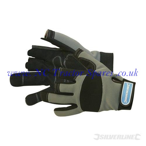 Part Fingerless Mechanics Gloves Large (Silverline)