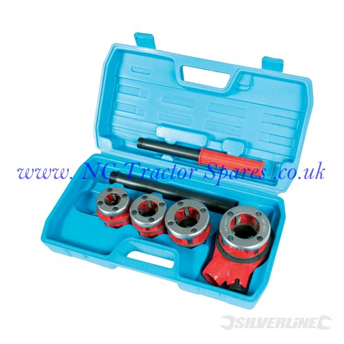 Pipe Threading Kit 1/2, 3/4, 1 & 1-1/4 (Silverline)