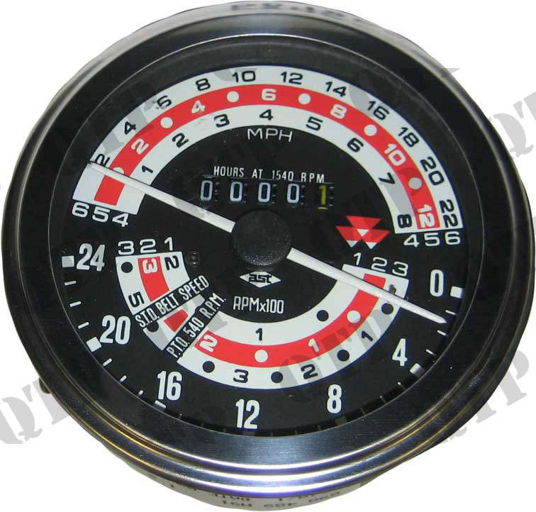 Rev Counter Clock 165 178 - 6 Speed