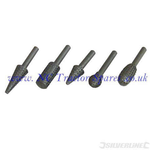 Rotary Rasp Set 5pce 6mm Shank (Silverline)
