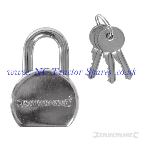 Round Steel Padlock 54mm (Silverline)