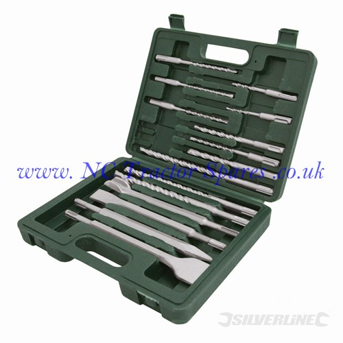 SDS Plus Masonry Drill & Steel Set 15pce 15pce (Silverline)