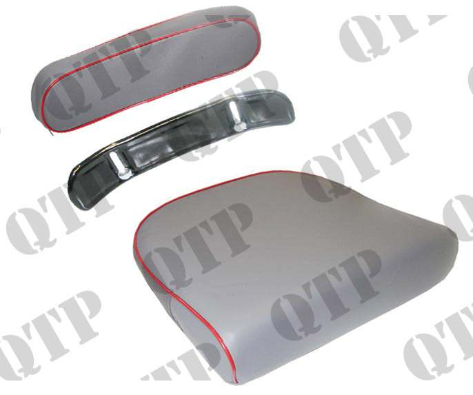 Seat Cushion & Back MF Grey & Red